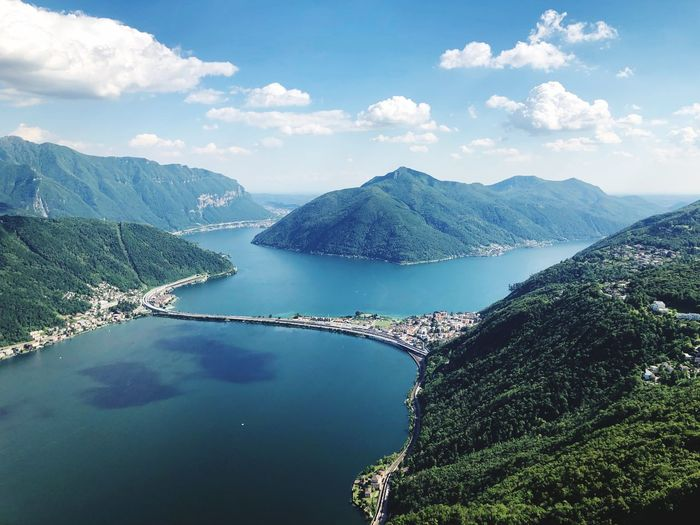 Lago Lugano Lago Di Lugano  Lake Lake View Lugano Water Sky Mountain Scenics - Nature Beauty In Nature Cloud - Sky Tranquility Mountain Range Blue Nature The Great Outdoors - 2019 EyeEm Awards The Mobile Photographer - 2019 EyeEm Awards