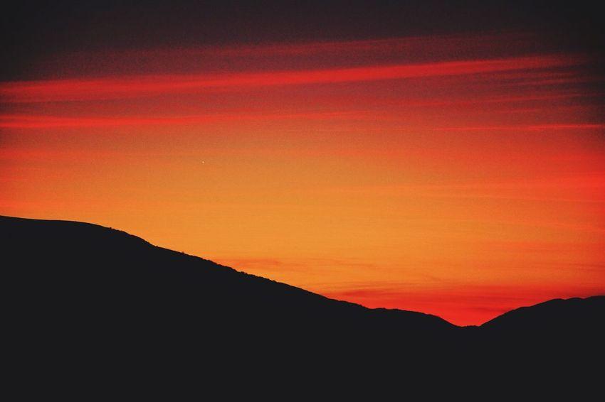 Red Sunset - Sunset Skyporn Silhouette Sunset Silhouettes VSCO Vscocam