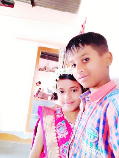 Omkar Dada Two People Girls Childhood Looking At Camera Portrait Togetherness Children Only First Eyeem Photo