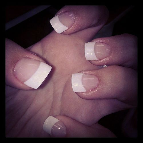 Got my nails done with Lexi today:) Nails Frenchtips Mknails Myhomegirl goodday