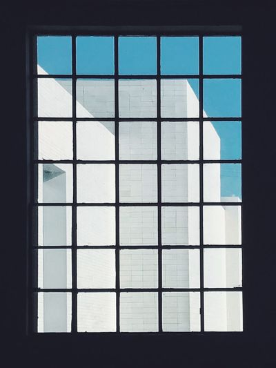 Look through a window Sky_collection Check This Out EyeEm Best Shots Popular Photos Window Architecture Geometric Shape Built Structure Sky