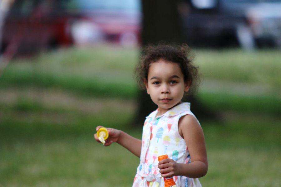 EyeEm Selects Childhood Curly Hair Outdoors Portrait Beauty Nature Bubbles Fun Princess Nala❤ Cuteness Happiness