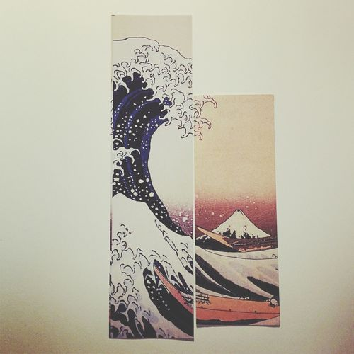 Bookmarks Collage Coincidence Greatwave