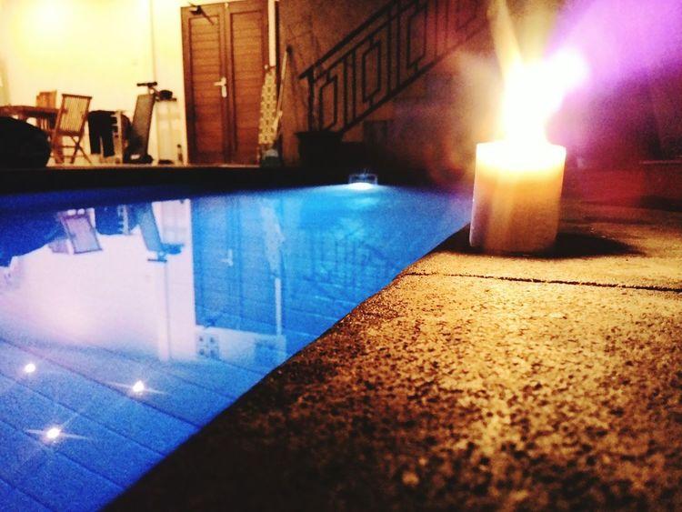 Fire ! Swimming Pool Night Night Lights Night Life Romantic❤ Candle Candle Night Popular Popular Photos