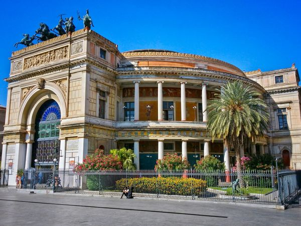Teatro Politeama Palermo Sicily Italy Travel Photography Travel Voyage Traveling Mobile Photography Fine Art Neoclassical Architecture Historical Monuments Mobile Editing