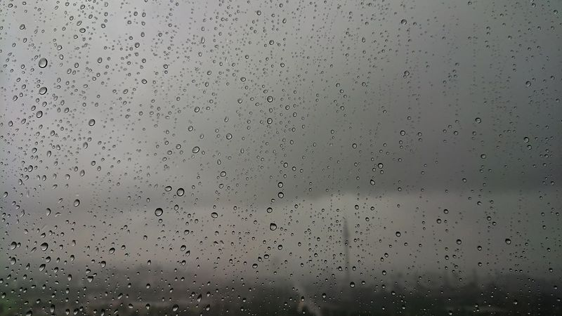 Backgrounds Drop Flying Pattern No People Full Frame Textured  Indoors  Nature Close-up Sky Day Officeview Rain Rainy Day Raindrops Grey Sky Grey Day HBoB Officeview