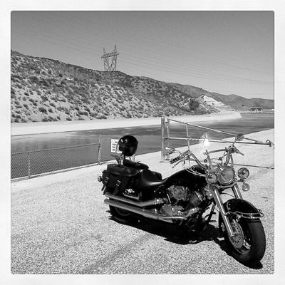 Vstar Moto Motorcycle Aquaduct Desert Antelopevalley