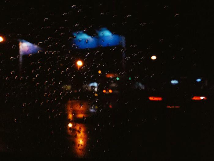 View outside the Window Car. Rainy Night City Night City Life RoadtripPh Highway EyeemPhilippines Outdoors Night Life PH KwyNn Photography