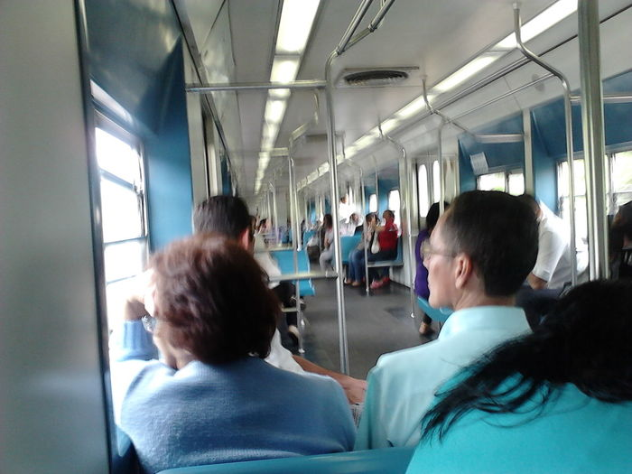 People on the train Focus On The Story