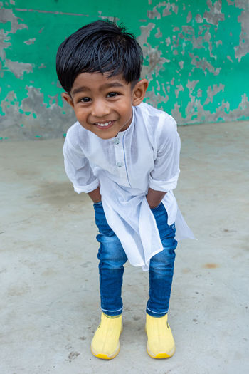 A two years boy's modern outfit and style.