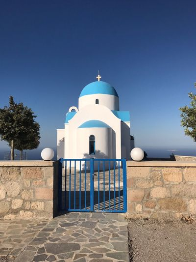 Greek church Greek Church Clear Sky Sky Religion Architecture Place Of Worship Spirituality Dome