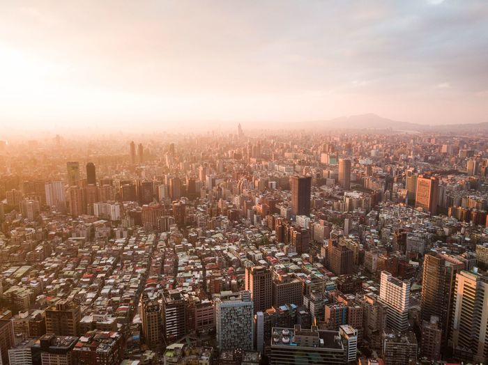 Orange Taipei Dji Dronephotography Drone  Cityscape City Building Exterior City Cityscape Architecture Built Structure Building Sky Office Building Exterior Skyscraper Crowd High Angle View Residential District City Life Sunset Nature Urban Skyline Modern Crowded Aerial View Outdoors