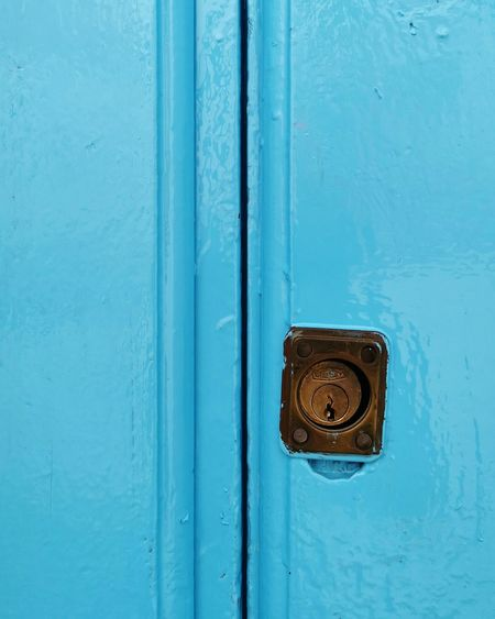 Blue Lock Wood - Material Protection Door Safety Security System Security Metal Backgrounds