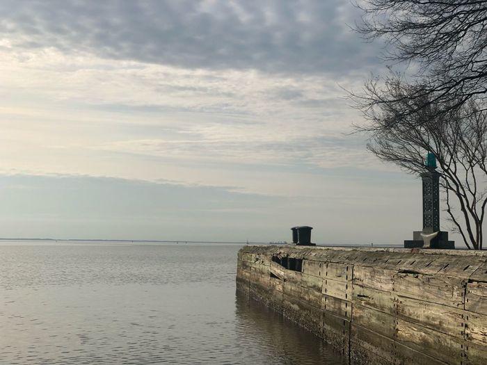 Beautiful day on the Severn Chesapeake Bay Severn River Sky Water Cloud - Sky Sea Scenics - Nature Beach Tranquil Scene