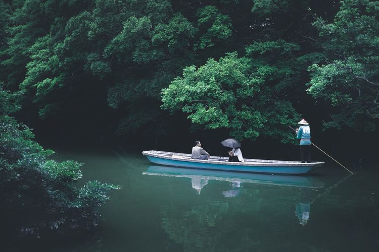 The Great Outdoors - 2017 EyeEm Awards Nautical Vessel Water Boat Transportation Reflection Outdoors Mood Beauty In Nature Nature Colors 柳川 EyeEm Best Shots Film Industry Mid Adult Relaxation
