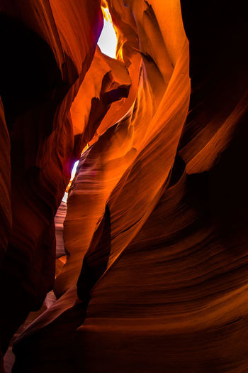 Antelope Canyon Beauty In Nature Cave Day Geology Indoors  Nature No People Physical Geography Rock Formation