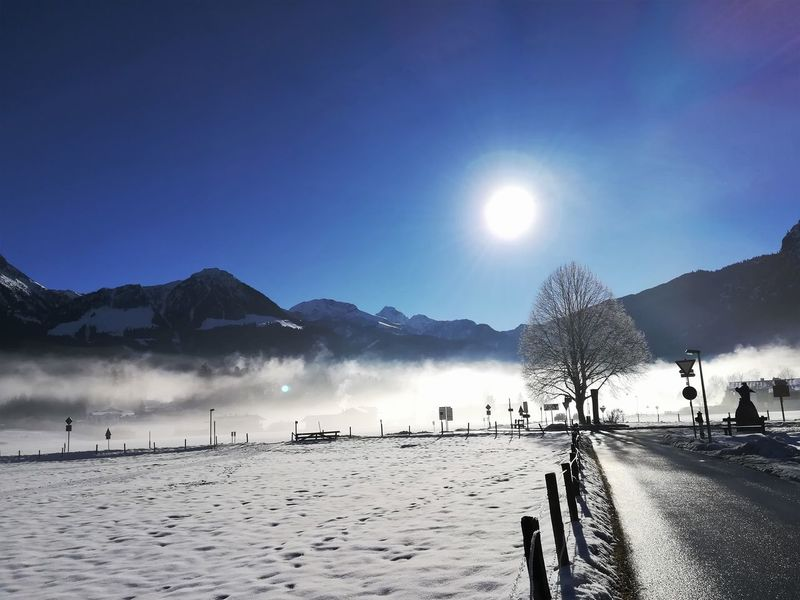 Schönau Am Königsee Beauty In Nature Cold Temperature Foggy Mountain Nature Snow Sun Winter