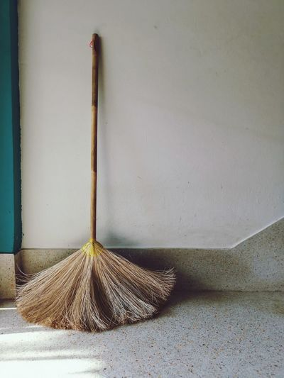 Alone Alone Backgrounds Cleaning Equipment Cleaning Broom Close-up Textured  Wooden Detail Full Frame