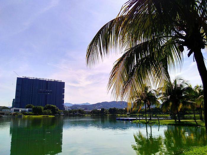 Lake before noon. Lake View Taman Tasik Ampang Ampang Malaysia Showcase July