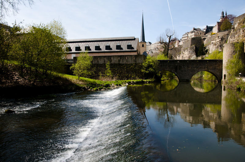 Alzette River Alzette Alzette River City Luxembourg Architecture Built Structure Luxembourg City Water