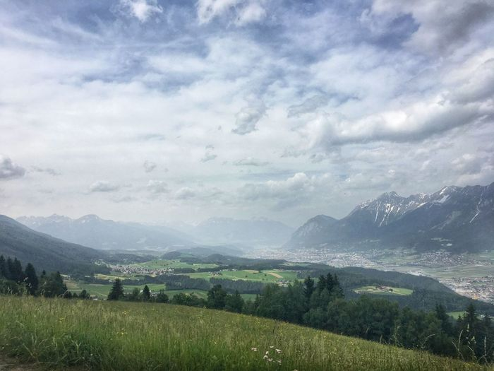 Cloud - Sky Sky Mountain Scenics - Nature Environment Plant Landscape Nature Mountain Range Agriculture Tranquil Scene Crop  Field Growth Beauty In Nature Land Tranquility Day Green Color Farm