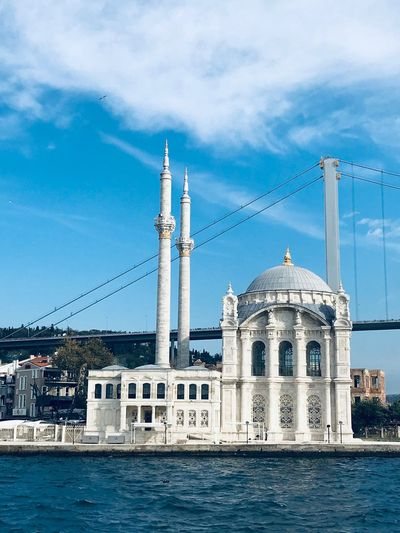 Istanbul Sky Built Structure Architecture Building Exterior Water Cloud - Sky Waterfront No People Nautical Vessel Travel Destinations Belief City Religion Nature Building Place Of Worship Outdoors Travel Spirituality Day