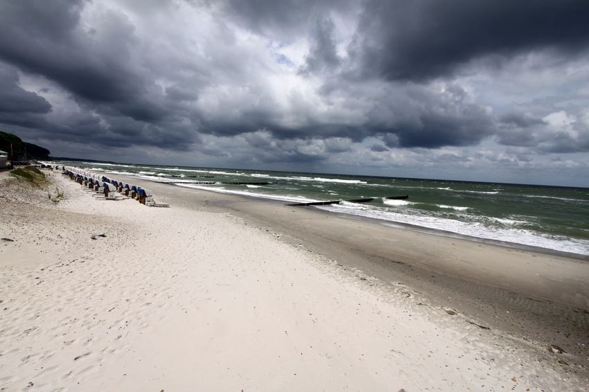 Ostsee Ostseeküste Ostseestrand Beach Beauty In Nature Cloud - Sky Day Horizon Over Water Landscape Nature No People Outdoors Sand Scenics Sea Sky Storm Storm Cloud Thunderstorm Tranquil Scene Tranquility Water Wave Weather