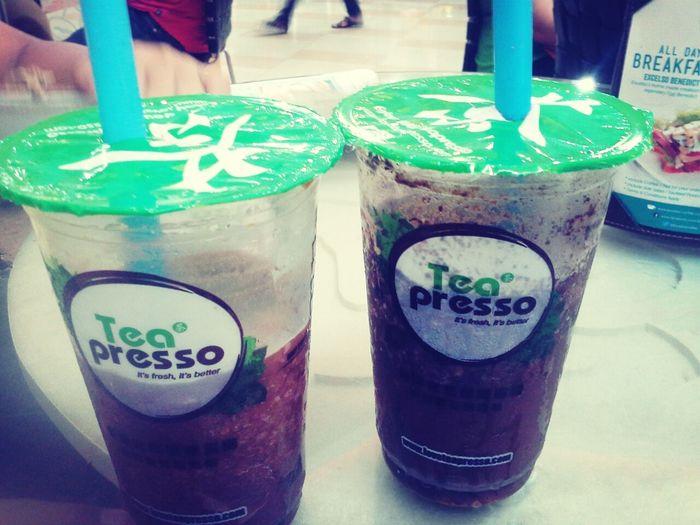 Tea Presso (Bubble Milk Tea) Taiwan Ice My Favorite Drink :) Yummy :)