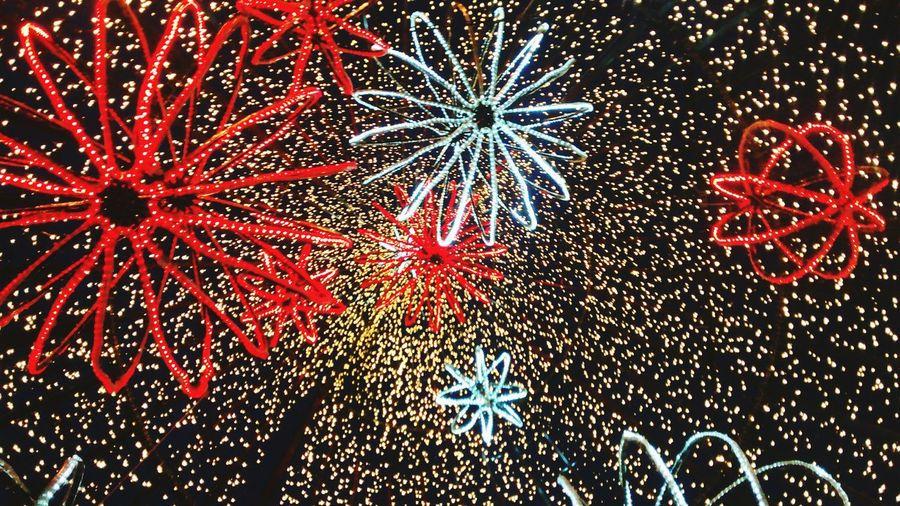 Christmas Lights Red Light Yellow Light