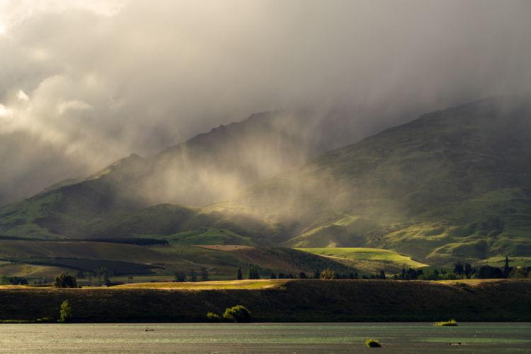 Cloud - Sky EyeEm Landscape Landscape Mood Mountain Nature New Zealand No People Outdoors Rain Sun Light Sun Rays