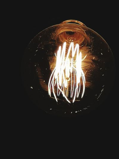 Light Bulb Lighting Equipment Illuminated Electricity  Filament Black Background No People Hanging Close-up Technology The Week On EyeEm