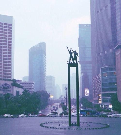 Pastel Power Roundabout Hotel Indonesia Roundabout Jakarta Indonesia Jakarta Hello World Traveling Travel Photography