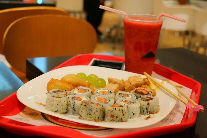Japan Japanese Food Sushi Juice Delicious Grape Chicken Shrimp Japon Comida Japonesa JuGo Saft  Suco Rico Pollo Frango Camarao Camaron Food Meal Dinner Essen