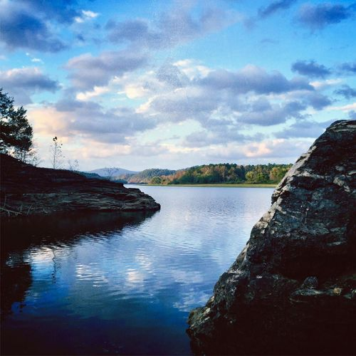 Perspectives On Nature Water Sky Beauty In Nature Scenics Nature Tranquil Scene Cloud - Sky Outdoors No People Tranquility Day River Tree Mountain