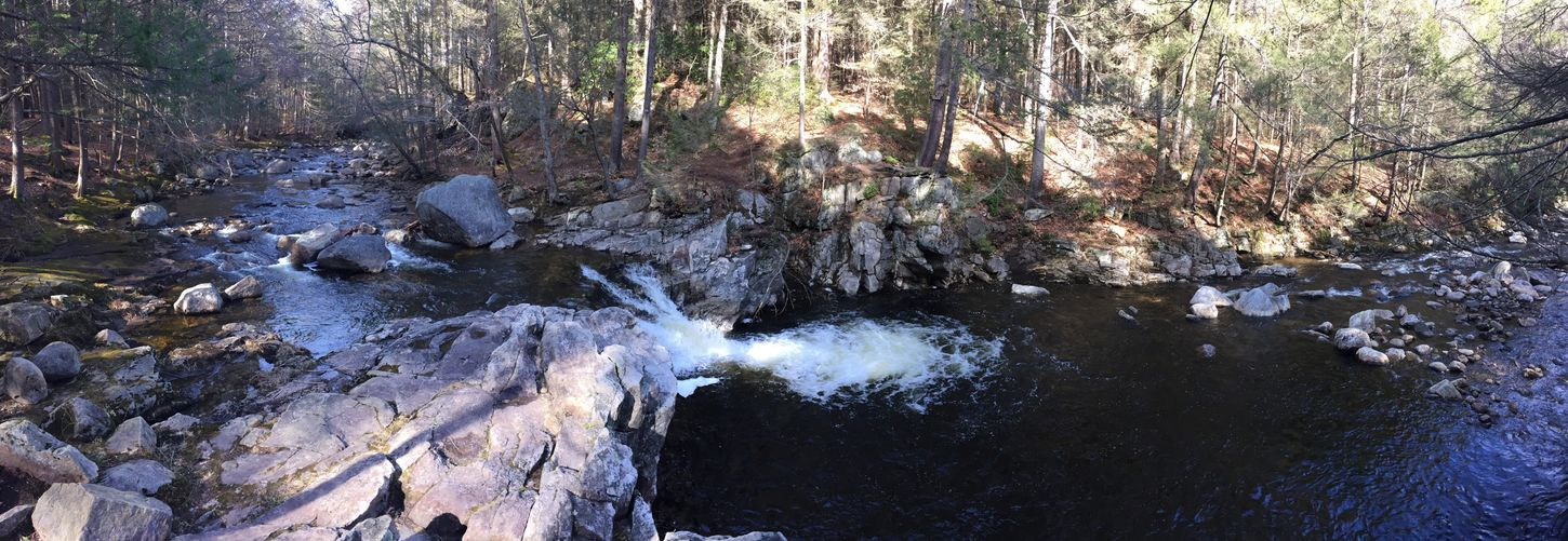 Have the place all to myself March March 2016 March Showcase River Waterfall Panorama No Filter Forest Share Your Adventure Beautiful Beautiful Nature Beautiful Day Time For Reflection New England  Massachusetts