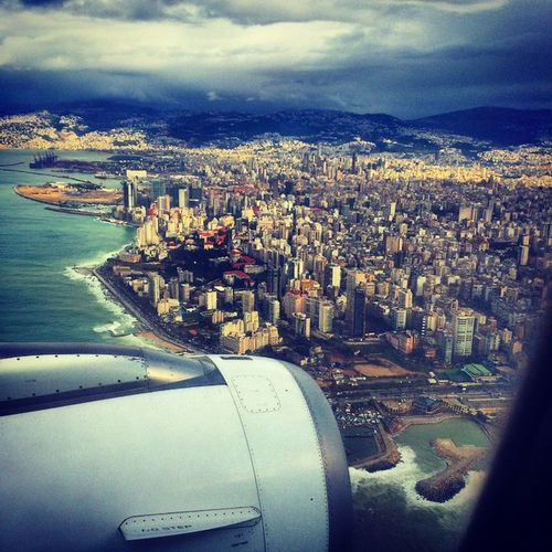 Beirut Airplane MEA Grey Clouds Windy Cold Photography Winter Lebanon Peaceforlebanon