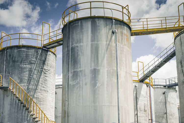 NZ, Silo Park Auckland Auckland Industrial Photography Silo Park Architecture Factory Industry No People Silo Staircase Storage Tank