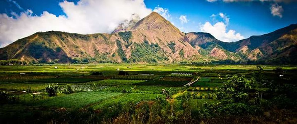 Agriculture Landscape Mountain Beauty Panoramic Scenics Nature Lombok Outdoors Cloud - Sky Water No People