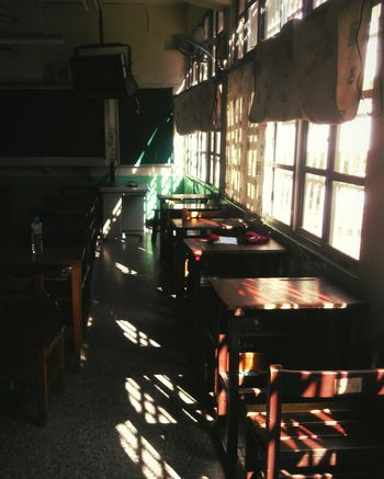 Daydreaming At School Lonely Light And Shadow Enjoying Life Classroomthat is my junior high school😄