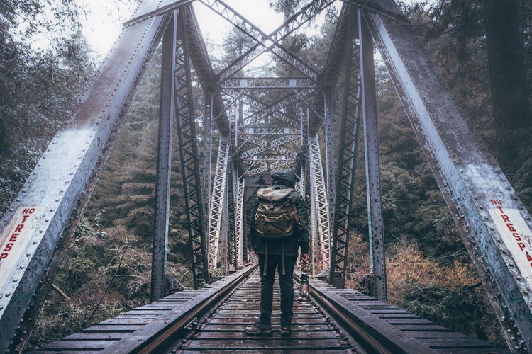 Bridge - Man Made Structure Day Nature One Person Outdoors People Tree Young Adult