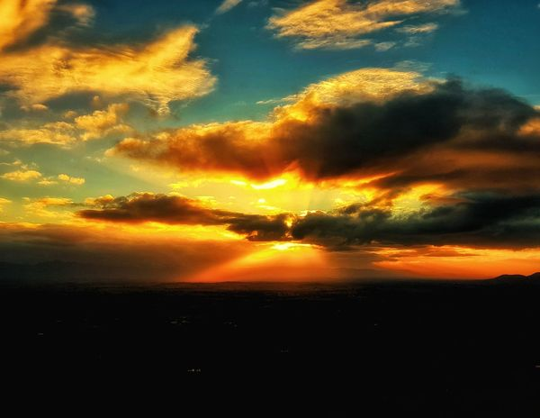 Sunset Dramatic Sky Sunset Nature Cloud - Sky Beauty In Nature Sky No People Landscape Heat - Temperature Outdoors Scenics Tranquil Scene Australia EyeEm Selects Clouds Lookout Rural Scene Inspiration Sunlight Scenery Nature Horizon Ararat  Lost In The Landscape