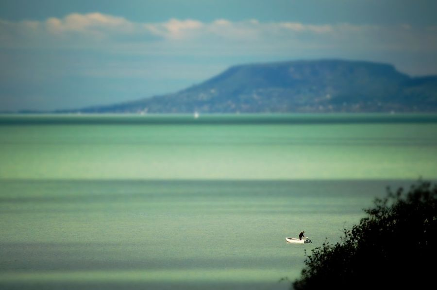 Green n Blue Badacsony Balaton Balaton - Hungary Blue Boat Fisherman Green Lake Lake View Lonely Lonelyplanetindia Sharpness Water
