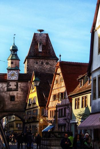 From My Point Of View Architecture Building Exterior Built Structure Charming Place Rothenburg Ob Der Tauber