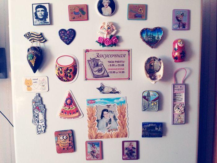 Моя коллекция магнитиков на холодильнике Hi!