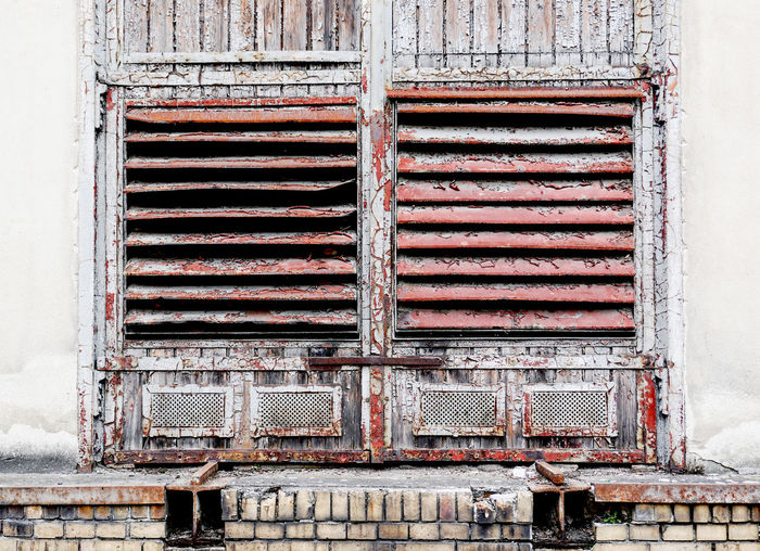 Old industrial window in Schoeneweide, Berlin, Germany Architecture Built Structure Day Metal No People Old Building Exterior Rusty Weathered Abandoned Outdoors Window Pattern Damaged Closed Obsolete Run-down Wall - Building Feature Deterioration Industry Iron Ruined Schoeneweide