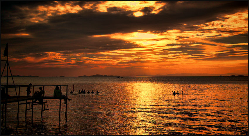 Beauty In Nature Cloud - Sky Horizon Over Water Nature Scenics Sea Silhouette Sunrise_sunsets_aroundworld Sunset Sunset Silhouettes Sunset_collection Tranquil Scene Tranquility