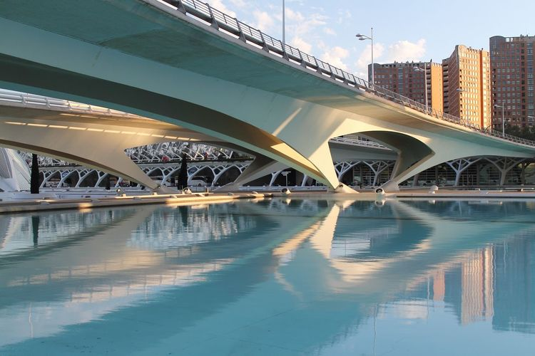 Architecture_collection EOS EyeEm Best Shots Light SPAIN Sunset_collection Travel Photography Valencia, Spain Architecture Built Structure Canon Canonphotography City Ciudad De Las Artes Y Las Ciencias Day Journeyphotography Light And Shadow Modern Outdoors Reflection Sunset Travel Destinations Water