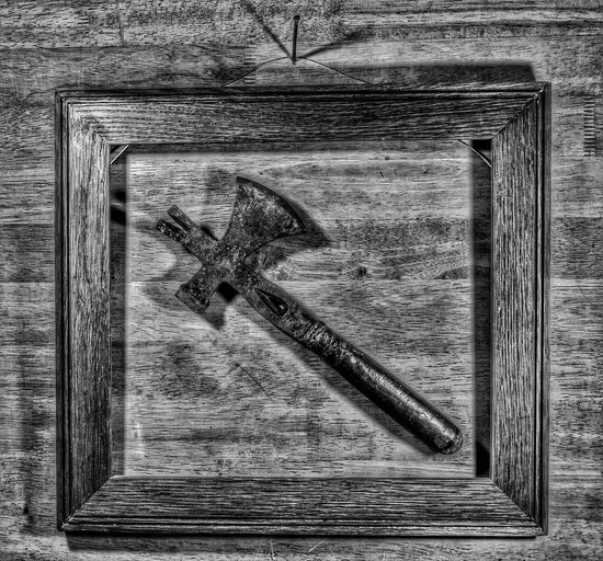"""Framed Hatchet of Alacrity"" still life. Fire Artwork No People Backgrounds Penang, Malaysia Nawfal Conceptual Photography  Close-up Pattern Textured  Still Life Photography Full Frame Framed Black And White Hatchet Alacrity Nawfal"