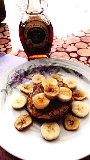 Life tastes better after a banana pancake 😁🥞