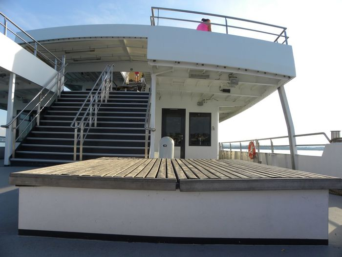 Stairs Lake View Passanger Seat On Board Ship Germany🇩🇪 Clear Sky Sky
